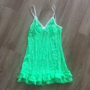 Victoria secret green sleepwear small